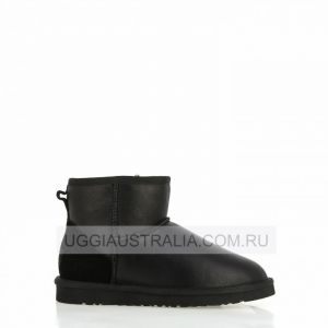 UGG Women's Classic Mini Black Leather