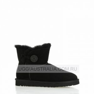 UGG Women's Bailey Button Mini - Black