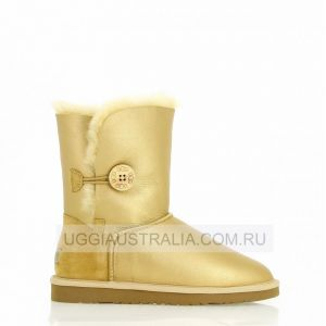 UGG Bailey Button Metallic Soft Gold