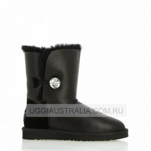 UGG Women's Bailey Bling Black Leather