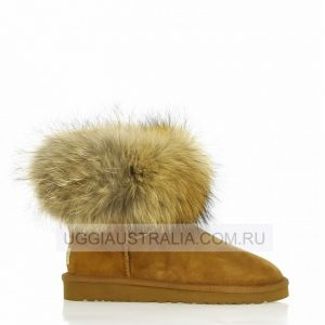 UGG Mini Fox Fur Chestnut