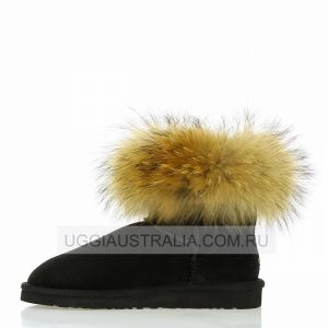 UGG Mini Fox Fur Black