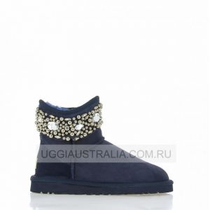 UGG Jimmy Choo Jeweled Navy