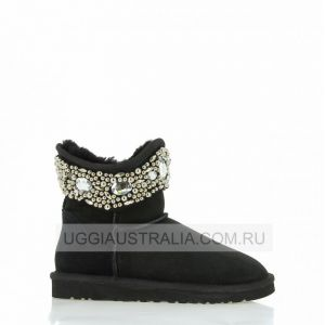 UGG Jimmy Choo Jeweled Black