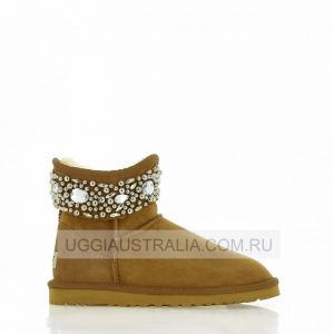 UGG Jimmy Choo Jeweled Chestnut