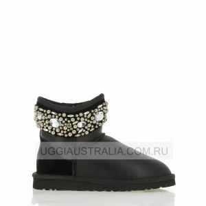 UGG Jimmy Choo Jeweled Metallic Black
