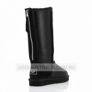 Ugg Womens Tall Zip Metallic Black