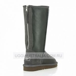 Ugg Womens Tall Zip Metallic Grey