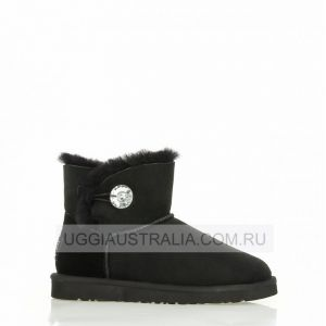 UGG Women's Bailey Button Mini Bling Black