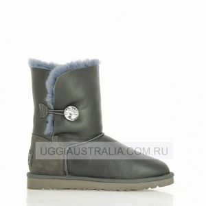 UGG Bailey Button Metallic Bling Grey