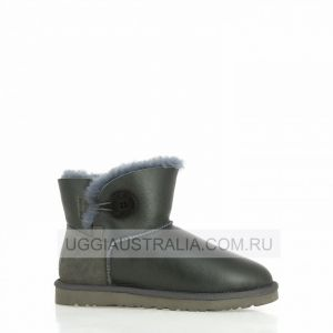 UGG Women's Bailey Button Mini Metallic Grey