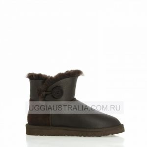 UGG Women's Bailey Button Mini Chocolate Metallic
