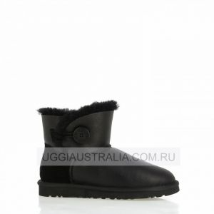 UGG Women's Bailey Button Mini Metallic Black