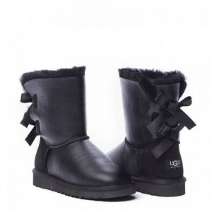 Детские угги Bailey Bow Metallic Black